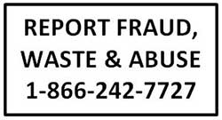 Report Fraud, Waste and Abuse